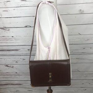 Vintage Genuine Leather Shoulder Bag Brown